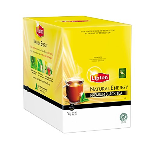 Lipton Natural Energy Premium Black Tea K-Cups, 24 - Lipton Premium Tea Bags