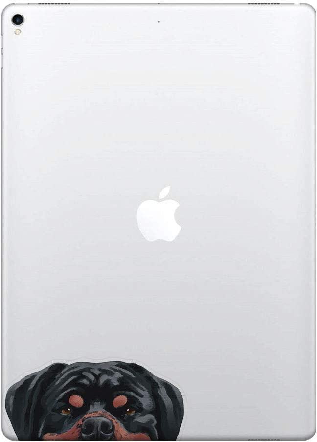 FINCIBO 5 x 5 inch Black Tan Rottweiler Dog Removable Vinyl Decal Stickers for iPad MacBook Laptop (Or Any Flat Surface)