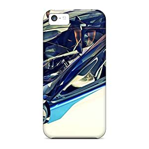 New Snap-on Leeler Skin Case Cover Compatible With Iphone 5c- Bmw Concept Car