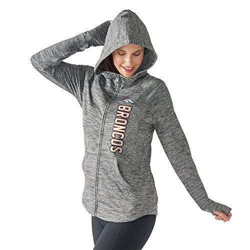 Women's G-III 4Her by Carl Banks NFL Recovery Full Zip Up Hoodie (X-Large, Denver Broncos) (88 Youth Baseball Bat)
