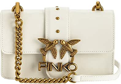 1P22AF.Y6XT Z14 Blanco + Blanco PINKO Pelletteria Bolso mujer LOVE MINI ICON SIMPLY 11 - PINKO