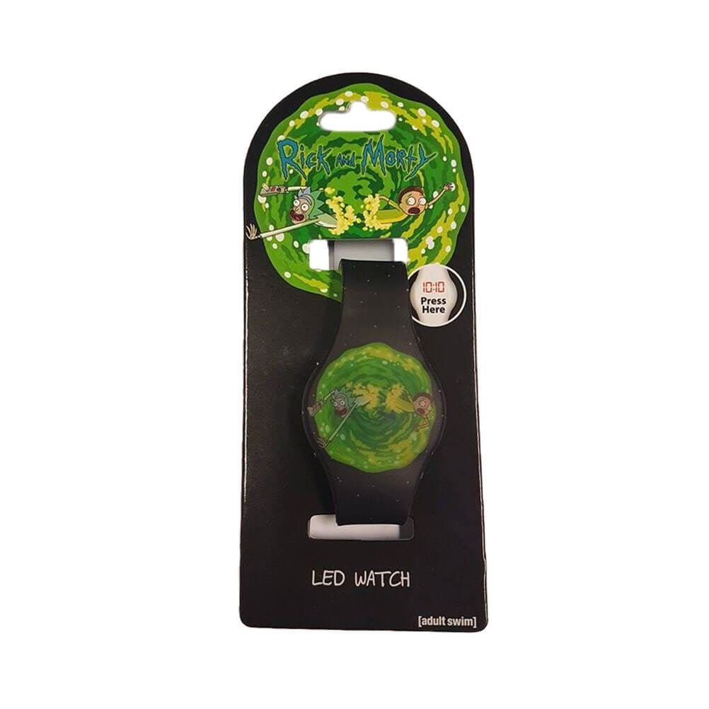 Official Licensed Adult Swim Rick and Morty Through The Portal LED Watch