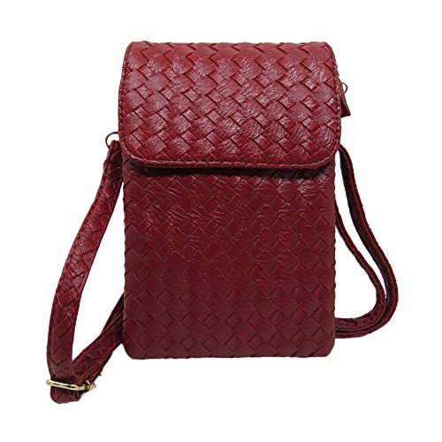 se PU Leather Purse Phone Bag for iPhone X,iPhone 8,iPhone 8 Plus,IPhone 7,IPhone 7 Plus,Galaxy note 8,Galaxy s8 Plus,Galaxy s8 Style1-Wine Red ()