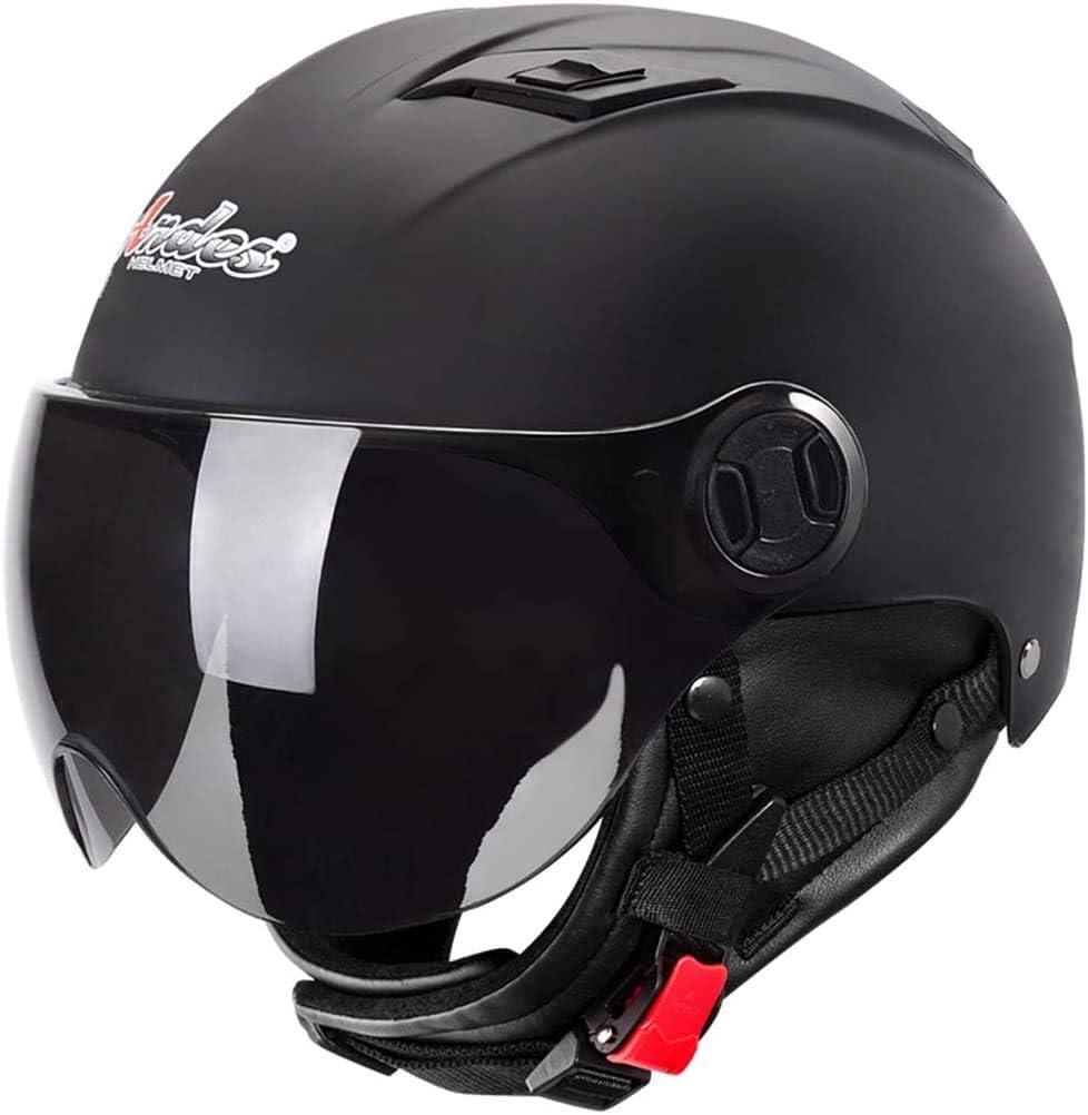 Moto Skateboard E Scooter Sport Multipli,Matt black Skate Casco Mezza Faccia Resistente Agli Urti Casco di Sicurezza Per Adulti Regolabile Per Bicicletta a