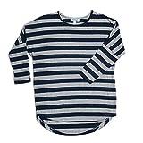Evelyn Alex Big Girls Striped Dolman Top (12, Blue Stripes)