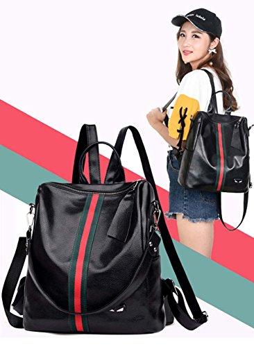 FLT muti-functional backpack crossbody bag shoulder bag - Bolso mochila  para mujer negro negro medium