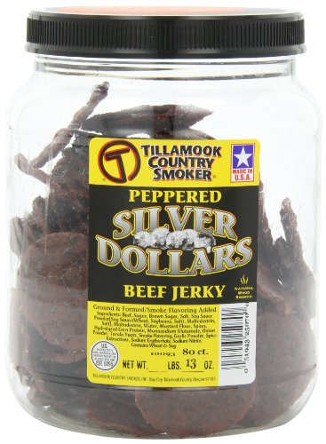 Price comparison product image Tillamook Country Smoker Peppered Silver Dollar Beef Jerky, 80-Count Coins