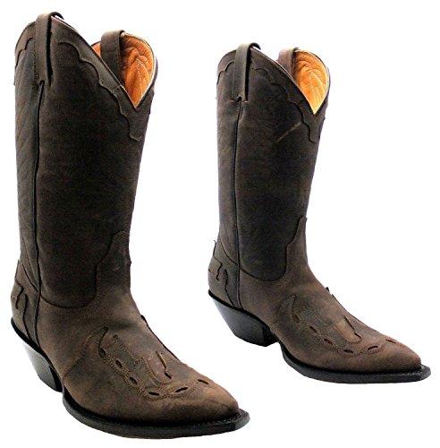 Leder Handgefertigte Western Brown Stiefel Leder Womens Spitze Schleifer Stilvolle Schuhe Premium befreien Echt Cowboy Arizona zu Mode WwASx4O8Yq