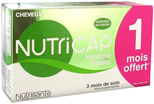 Nutrisanté Nutricap kératine vitalité Capsules pour la croissance des cheveux, 90 Capsules