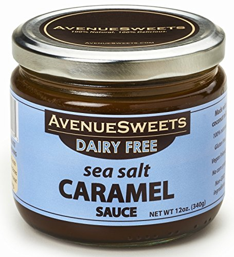AvenueSweets Vegan Salted Caramel Sauce Coffee Flavoring Syrup Toppings 12oz - Espresso Latte Sauce and Dripping Dipping Caramel Sauce (Sea Salt, 1 (Coconut Dipping Sauce)