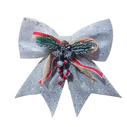 Diy Unique Halloween Ideas (Nesee Cute DIY Pearl Cotton Bow Charm Pendant Pine Core Ball Bows Hanging Suitable for Wedding Holiday Party Decoration)
