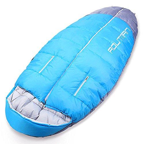 Crystalzhong Mochila de Viaje portátil Saco de Dormir Cálido portátil Momia cálido Transpirable Saco de Dormir de algodón Abierto Adecuado para Acampar al Aire Libre Gear ScanSmart Bag