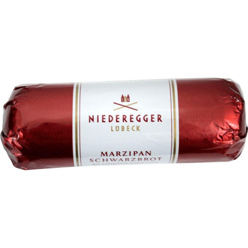 Niederegger Lübeck Schwarzbrot's Marzipan Mit Zartbitter - Schokolade Bittersweet, 125g, 4.4 oz