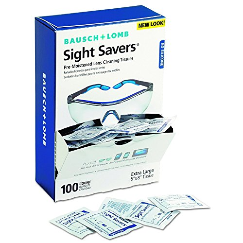 Bausch and Lomb 8574GM Sight Savers RoyAiD Premoistened Lens Cleaning Tissues, Box of 100 (2 - Lomb Bausch And Glasses