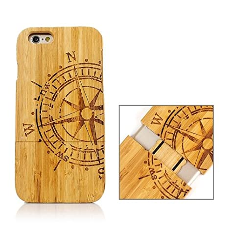 alsatek - Carcasa Funda Madera para iPhone 6/6S, diseño de ...