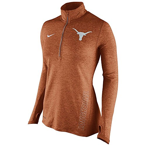 Nike Womens Texas Longhorns Stadium ELement Quarter Zip T...