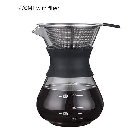 Moka Pot, MMKICC Espesar la cafetera de vidrio con mango Espresso ...