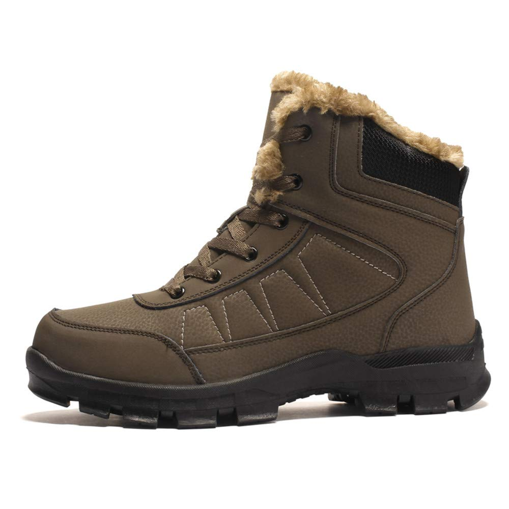 Ying xinguang Bottines pour Hommes Casual High-Top Plus Coton Chaud Chaussures de Travail Confortables antidérapantes !