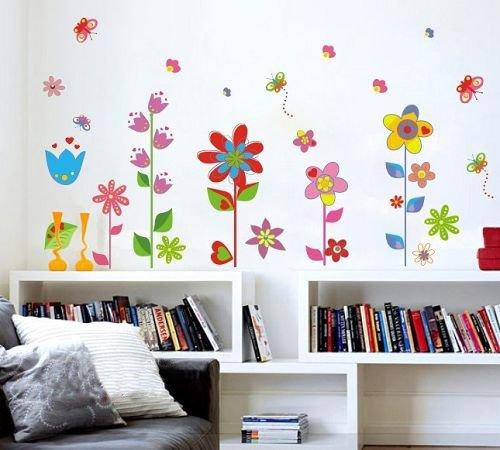 Gut Wandtattoo Wandaufkleber Blumen Und Schmetterlinge Premium Wand Sticker PVC  Kinderzimmer + Kostenlose Blumen
