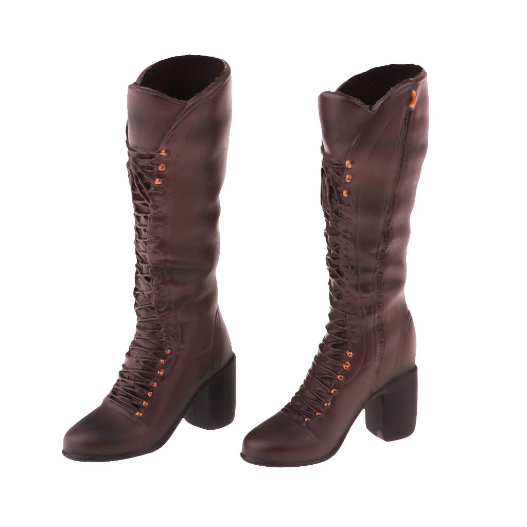 "1//6 Female Lace-up Boots Shoes for 12/"" Kumik Phicen Hot Toys Action Figures"