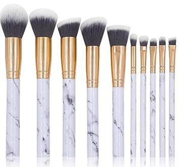 cbe47cc31d1c Amazon.com: NEJLSD Marble Makeup Brushes Set 10 Pcs Professional ...