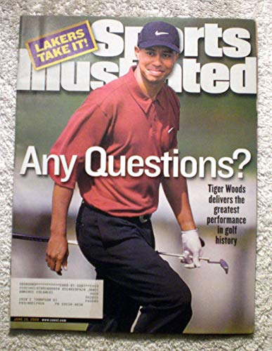 Tiger Woods - 2000 U.S. Open Champion - Greatest performance in golf history - Sports Illustrated - June 26, 2000 - Pebble Beach - Lakers win NBA Championship - SI