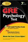 GRE Psychology (GRE Test Preparation) by Kellogg R. Pisacreta R. The Editors of REA (1998-01-01) Paperback