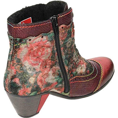 Red Rieker Y7213 Floral Stivali Rosso Donna 34 q1HwTI1r