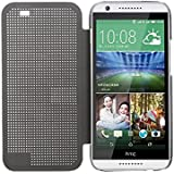 Defender Premium Best DOT VIEW Bumper Touch Flip Case Cover with Sensor for HTC Desire 820 - GREY