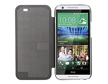 huge discount cb4dd 440dc Defender Premium Best DOT View Bumper Touch Flip Case Cover with Sensor for  HTC Desire 820 - Grey
