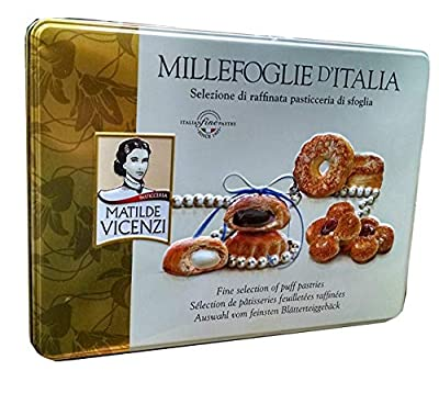 Matilde Vicenzi Millefoglie D'Italia - Authentic Italian Pasticcini - Fine Assorted Puff Pastries Imported From Italy (1.32 lbs)