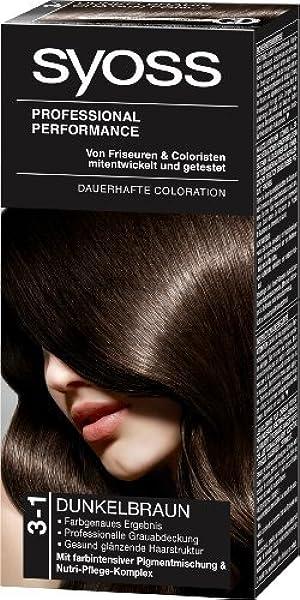 Amazon Com Syoss 3 1 Hair Dye Dark Brown Level 3 By Syoss Health Personal Care