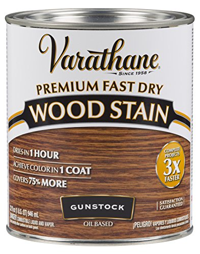 - Varathane 262007 Premium Fast Dry Wood Stain, 32 oz, Gunstock