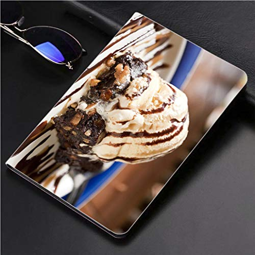 Compatible with 3D Printed iPad Pro 10.5 Case Vanilla Ice Cream and Walnut Brownie 360 Degree Swivel Mount Cover for Automatic Sleep Wake up ipad case