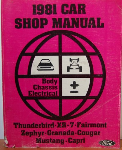 1981 Car Shop Manual Body Chassis Electrical, Ford Thunderbird, XR-7, (Cougar Headlamp)