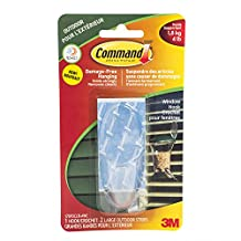 Command Large Clear Window Hook, 4 lb Capacity, 1 Hook 2 Large Outdoor Strips, (17093CLR-AWC)