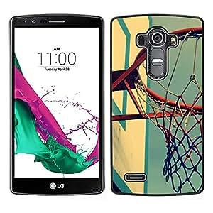 Cancha de Baloncesto retro - Metal de aluminio y de plástico duro Caja del teléfono - Negro - LG G4