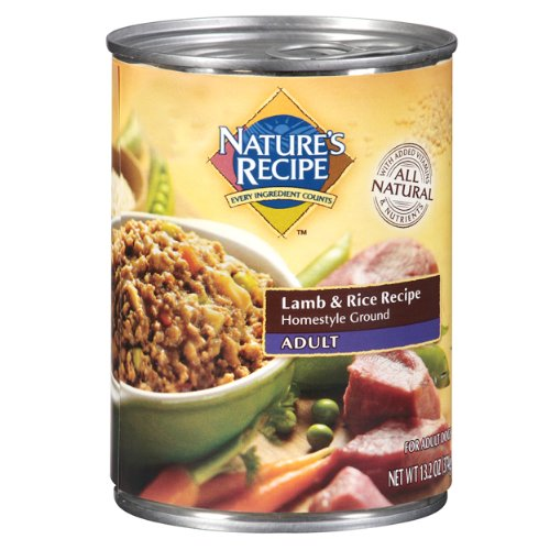 Nature'S Recipe Canned Dog Food For Adult Dog, Lamb And Rice Meal (Pack Of 12, 13.2 Ounce Cans)