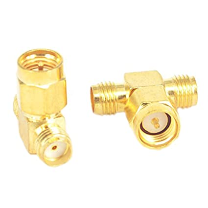RF Coax Adapter SMA Male to Dual SMA Female Connector Splitter Antenna Converter Pack of 2