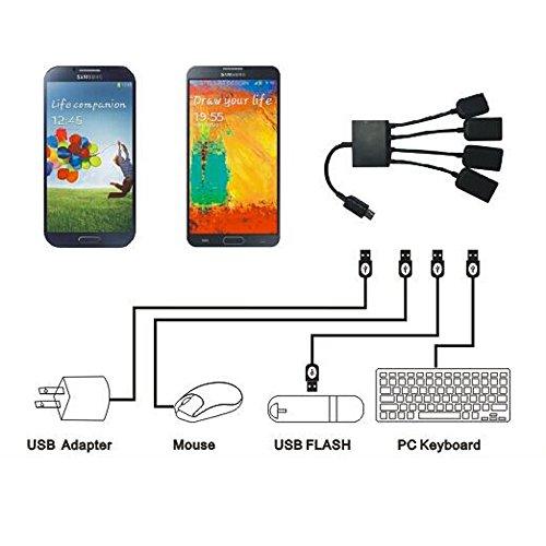 Micro Usb HUB Adaptor with Power, Kirin 3-Port Charging