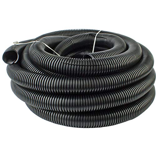 "225FWY 50 Ft 5/8"" 16mm Split Wire Loom Conduit Polyethylene Tubing Black Color Sleeve Tube"