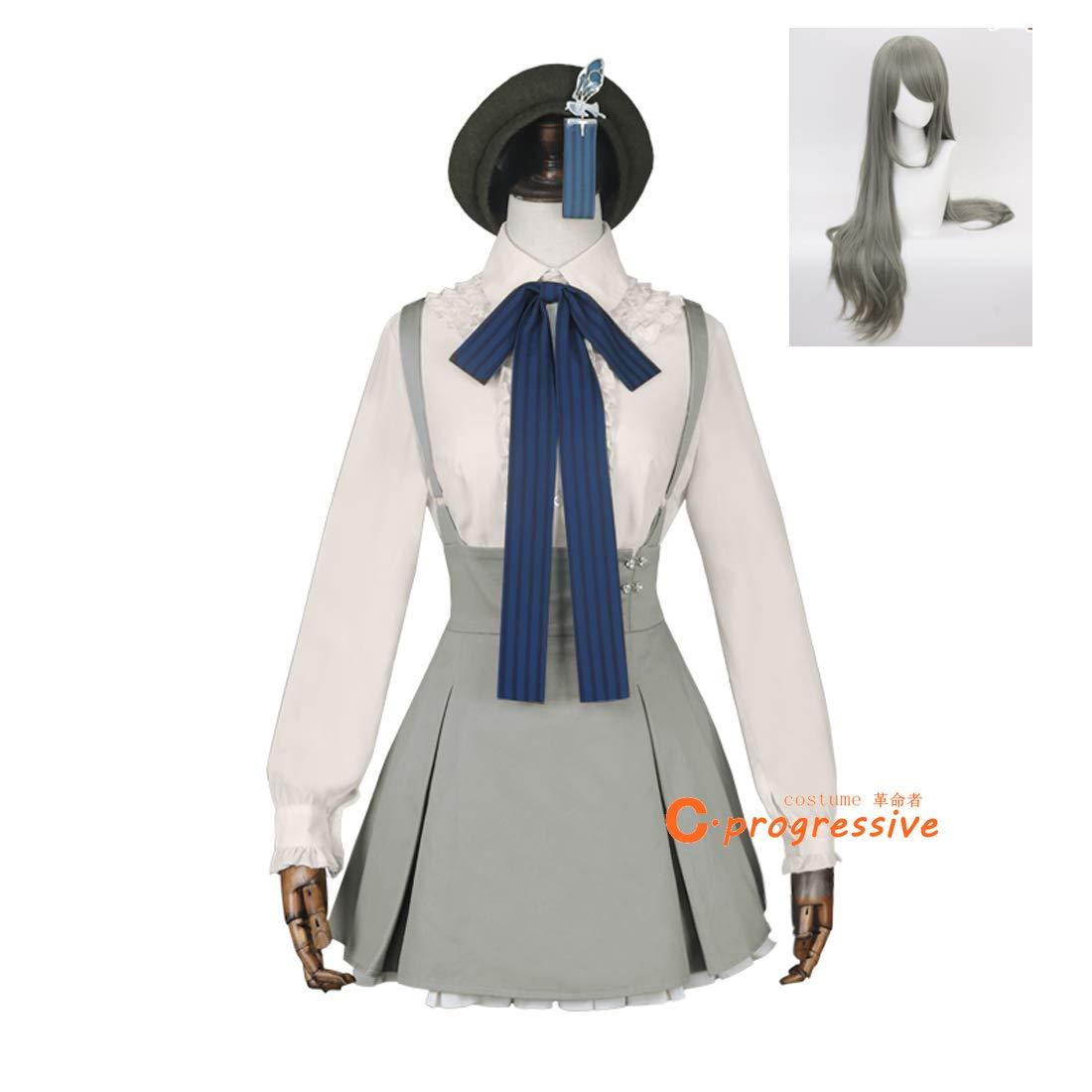「C.progressive」 シのアリス ピノキオ コスプレ 衣装 グレー 依存 ウィッグ追加可能 (服装+ウィッグ, XL) B07MTLTBF1 服装+ウィッグ L L|服装+ウィッグ
