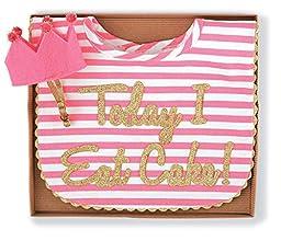 Mud Pie Baby-Girls Newborn Cake Smashing Set-Bib and Crown Headband, Multi, One Size