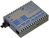 Omnitron FlexPoint 4357-11 Fast Ethernet Media Converter - 1 x RJ-45 Network, 1 x SC Network - 10/100Base-TX, 100Base-FX - Rail-mountable, Rack-mountable, External, Wall-mountable - 20 km
