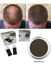 Thicken It 100% Scalp Coverage Hair Powders - DARK BROWN - Talc-Free .32 oz. Waterproof Hair Loss Concealer. Naturally...
