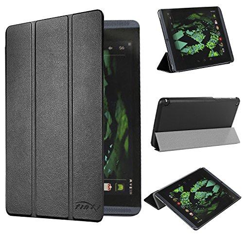 tinxi® Kunstleder Tasche für Nvidia Shield Tablet K1 8 zoll / Nvidia Shield Tablet 8 8 zoll (20,32cm) Tasche Hülle Case cover Etui Schutz Folio mit Magnet Verschluss schwarz
