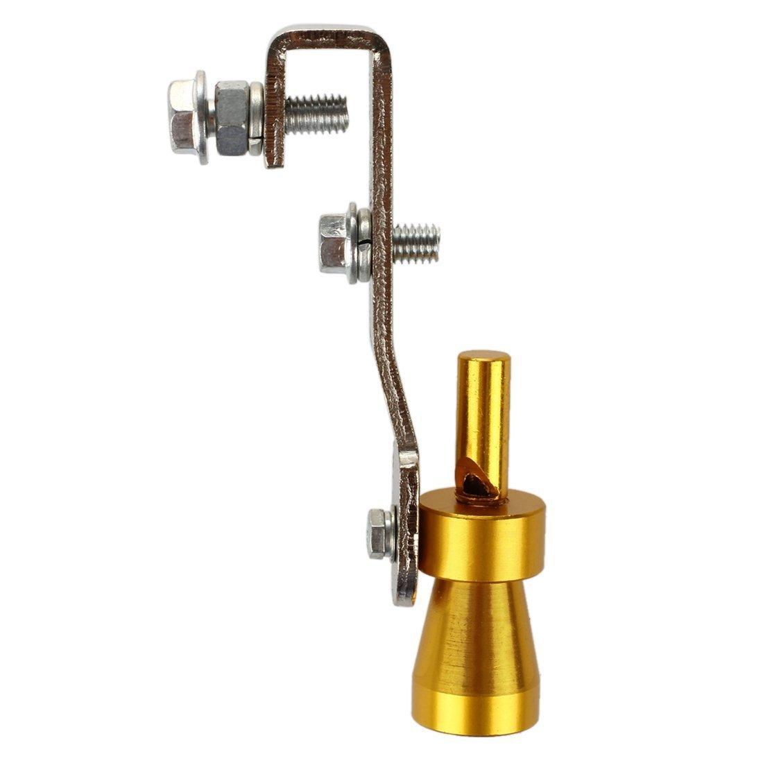 Sonido Turbo Silenciador - TOOGOO(R)10.2 x 1.8cm Turbo sonido del silenciador del extractor pipa del silbido valvula de escape BOV Simulador Silbido por ...