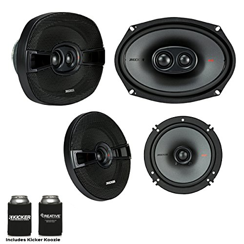 Kicker Speaker Bundle - A pair of 6.5 Inch & a pair of 6x9 KS-Series Speakers, KSC6504 & KSC69304