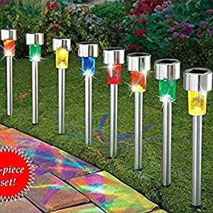 solar garden lights outdoor decorations home decor stakes yard decorative stainless. Black Bedroom Furniture Sets. Home Design Ideas