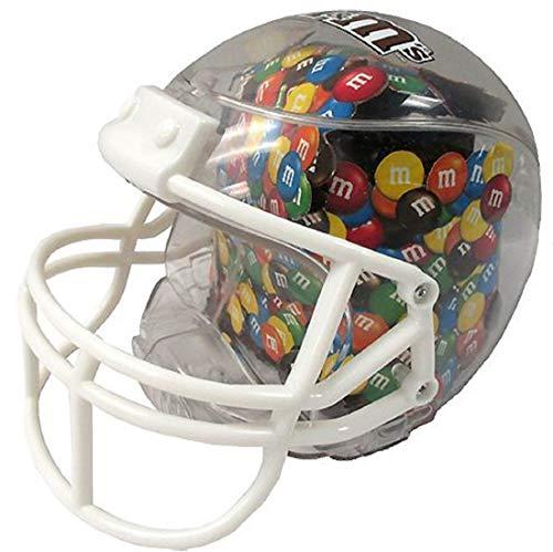 M&M's Football Helmet Dish Includes 8 Packs of Fun Size Milk Chocolate Candies -